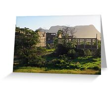 Ruins of the former shale oil refinery, Capertee Valley NSW Greeting Card