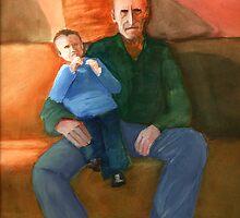 Grandad and Tim by JDNarts