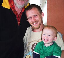 Portrait: Philip, Kieron and Dylan - Three Generations  by Vanessa Pike-Russell