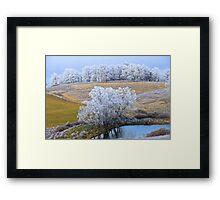 Scenic Winter, Brannon Mt. NW Arkansas, USA  Framed Print