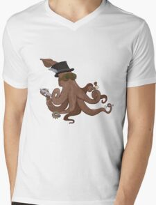 Steampunk Kraken Mens V-Neck T-Shirt