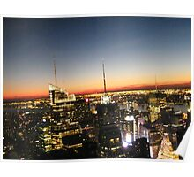 New York City at Night, View from Top of the Rock Observation Deck Poster