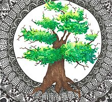 Mandala Tree by Ibubblesart