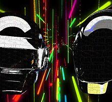 Daft Punk neon bg by Arsyro