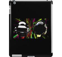 Daft Punk neon bg iPad Case/Skin