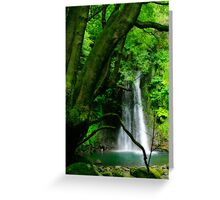 Waterfall, Azores islands Greeting Card