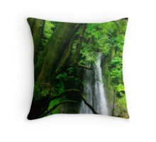 Waterfall, Azores islands Throw Pillow