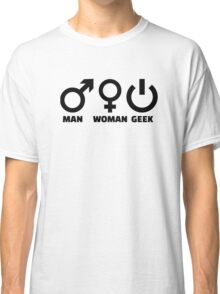Man woman geek Classic T-Shirt
