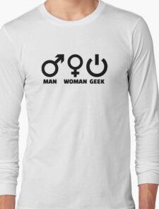 Man woman geek Long Sleeve T-Shirt