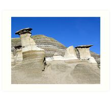 Hoodoos in the Badlands Art Print