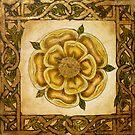 Yellow Celtic Rose by WildestArt