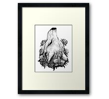 Outreach - Wolf with Orchids and Magnolias Framed Print