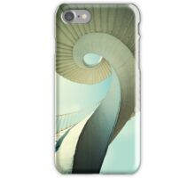 Spiral stairs in pastel tones iPhone Case/Skin