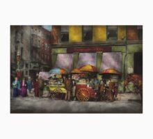 City - NY- Lunch carts on Broadway St NY - 1906 One Piece - Long Sleeve