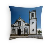 Church in Azores islands Throw Pillow