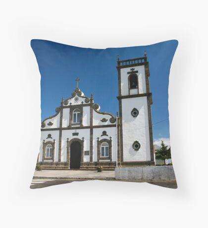 Church in Azores islands Throw Pillow
