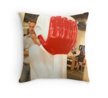Please....look no evil Throw Pillow