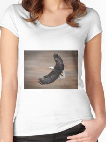 An Artistic Presentation Of The American Bald Eagle Women's Fitted Scoop T-Shirt