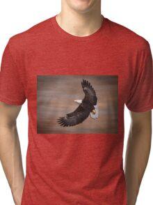 An Artistic Presentation Of The American Bald Eagle Tri-blend T-Shirt