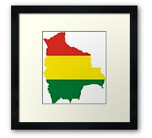 Flag Map of Bolivia  Framed Print