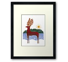 Deer in Sunlight Framed Print