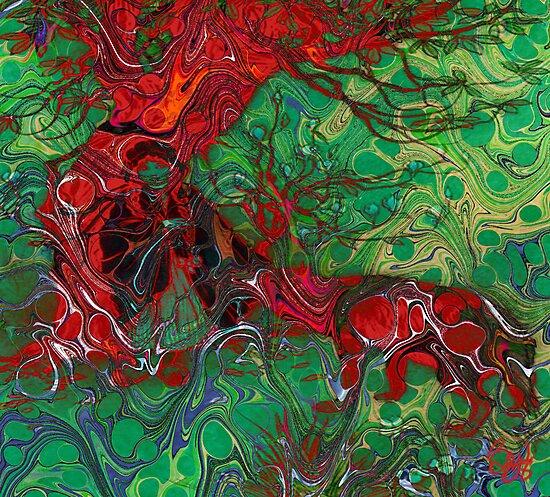 Red Tree  by bev langby