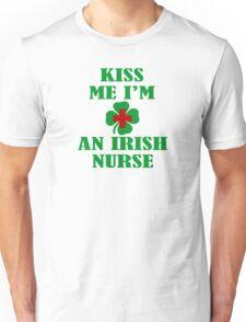 KISS ME IM AN IRISH NURSE Unisex T-Shirt