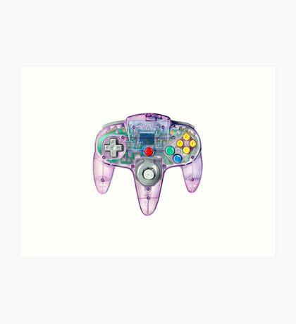 Nintendo 64 Controller Atomic Purple Art Print