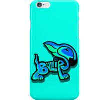 Bullies Letter Character Turquoise and Blue iPhone Case/Skin