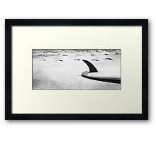 Single fin Surfboard Framed Print