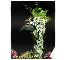 Floral Peacock Poster