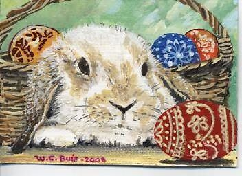 Easter Bunny   ACEO by mmdstudios
