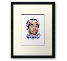 Darren Criss Dumb Human Framed Print
