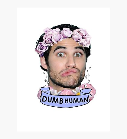 Darren Criss Dumb Human Photographic Print