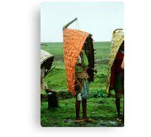 Tribal Rain-coat Canvas Print