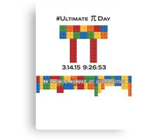 Ultimate Pi Day:  Infinite Number of Possibilities Canvas Print