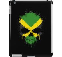 Chaotic Jamaican Flag Splatter Skull iPad Case/Skin