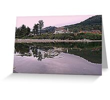 Homes above the river Greeting Card