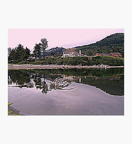 Homes above the river Photographic Print