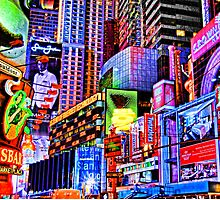 Times Square Commercial Fantasy by Scott  Hudson
