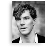 Benedict Cumberbatch black and white Canvas Print
