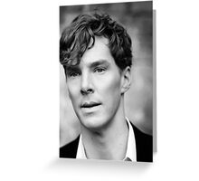 Benedict Cumberbatch black and white Greeting Card