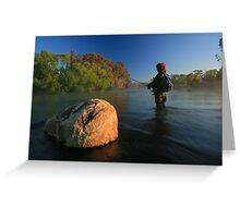 the freshwater fisherman.. Greeting Card
