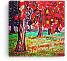 Bright Fall Leaves  Canvas Print