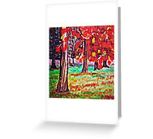 Bright Fall Leaves  Greeting Card