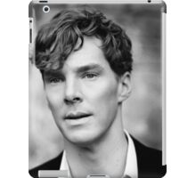 Benedict Cumberbatch black and white iPad Case/Skin