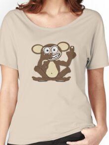 Crazy Monkey Tee (Fur) Women's Relaxed Fit T-Shirt