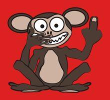 Crazy Monkey Tee (Furless) by BluAlien