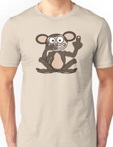 Crazy Monkey Tee (Furless) Unisex T-Shirt