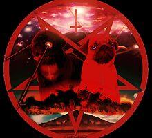 red pugtagram by darklordpug